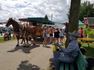 A day at the Elkhart County Fair, with a horse-drawn tram!