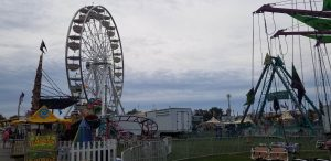 Elkhart County Fair's Midway, Ferris Wheel included!